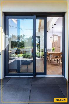 Kitchen Sliding Doors, Sliding French Doors, Sliding Glass Door, House Window Design, Door Gate Design, House Design, Modern Patio Doors, French Doors Patio, Filipino Interior Design