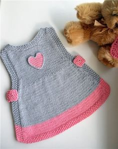 Ideas Crochet Cardigan Pattern Girls Baby Sweaters For 2019 Baby - Diy Crafts - DIY & Crafts Knit Baby Dress, Baby Cardigan, Baby Dress Patterns, Baby Knitting Patterns, Knitting Ideas, Knitting Stitches, Crochet Patterns, Knitting For Kids, Easy Knitting