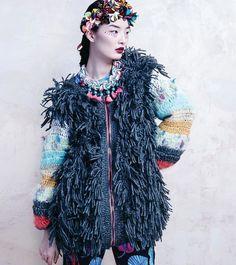high fashion crochet with fringe
