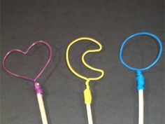Summer fun— make your own bubble wands.  (doubt bubbles cooperate completely with shapes but fun particularly if you use homemade bubble solutions)