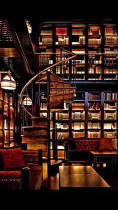 home library The NoMad Hotel - New York City, New York - Join a local crowd for well-crafted cocktails in the hushed, glamorous Library Bar. Library Bar, Library Room, Dream Library, Future Library, Cozy Library, Library Ideas, Photo Library, Nomad Hotel Nyc, Home Libraries