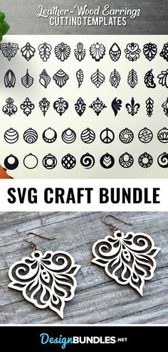 DIY Crafts Earrings SVG Files - An SVG Cut File bundle for your DIY earring crafts with Cricut or Silhouette