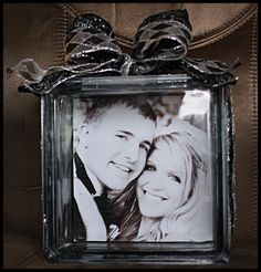 I made this cool craft with my daughter and son-in-laws pic on it. : kellye photography