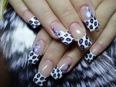 Purple leopard nail pinned with @PinvolveLove