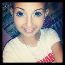 Talia Castellano. <3 RIP: this girl is incredible- 13 years old and suffered from 2 types of cancer. She had her own YouTube channel for makeup and was an honorary covergirl. The fact that a little girl suffering from so much could have that much joy and happiness is inspiring. My prayers go out to her and her family