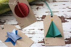 Christmas 3D gift tags - CherylStyle