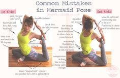 Pin now, practice later. Common mistakes in mermaid pose.