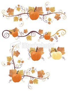 Pumpkin Design Elements Royalty Free Stock Vector Art Illustration istockphoto.com