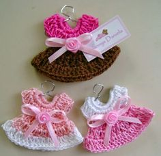 Crochet dress for a girl baby shower.