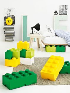 Lego Storage- cute for little boy's room!!