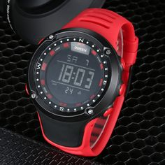 OHSEN 1510 LED Digital Alarm Waterproof Rubber Band Wrist Watch