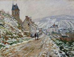 Titre de l'image : Claude Monet - C.Monet, Straßen nach Vetheuil im Winter