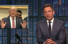 """Trump Doesn't Know Anything About Health Care (Video)  Seth Meyers wants to remind you that President Donald Trump, despite supposedly being the biggest proponent of the new health care bill, doesn't actually know anything about it.  In his """"Closer Look"""" segment, Meyers showed clips of Trump talking about the bill and failing to divulge any details about it.  Senate GOP Delays Health Care Vote Until After July 4 Recess  [...] the Senate health care bill is one of the most unpopular pieces of…"""