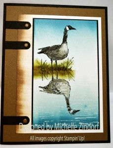 Goose Reflection – Stampin' Up! Card created by Michelle Zindorf