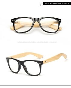 Long Keeper 2017 Retro Bamboo Glasses Frame Men Women Eyeglasses 77b43dffefdd