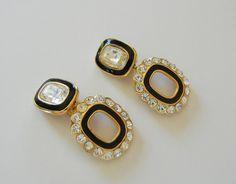 Christian Dior Massive Dangle Earrings Clip by RockArtemisVintage, $120.00