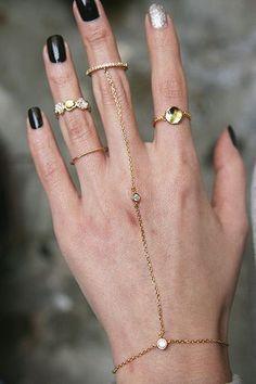 Full hand of rings.