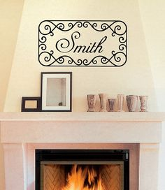 Wall decal may be personalized with your family last name.