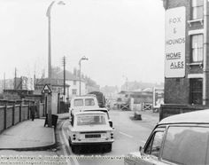 Station Road showing ex-Midland Railway level crossing November 1972