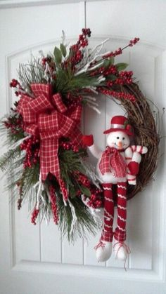 Grapevine christmas wreath by kyong Grapevine Christmas, Christmas Mesh Wreaths, Noel Christmas, Simple Christmas, Christmas Ornaments, Grapevine Wreath, Christmas Swags, Winter Wreaths, Rustic Christmas