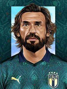 Epl Football, Football Icon, National Football Teams, Football Art, World Football, Andrea Pirlo, Soccer Art, Football Images, Association Football