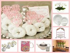 Bridal Shower Ideas. Instead of pink diamonds, do crystal gems in the middle of the donut.
