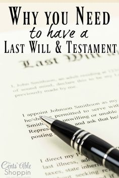 Do you know that 64% of Americans do not have a Will in place? Having a last will & testament is a MUST - for everyone. Find out why!