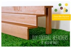 Easy tutorial on how to make bleachers for your food < neat idea