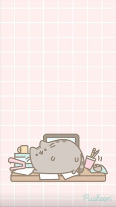 Plant Wallpaper, Kitty Wallpaper, Cute Anime Wallpaper, My Little Pony Wallpaper, Cute Pastel Wallpaper, Vintage Anime, Pusheen Cute, Cute Squishies, Cute Journals