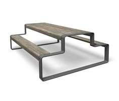 Benches with table