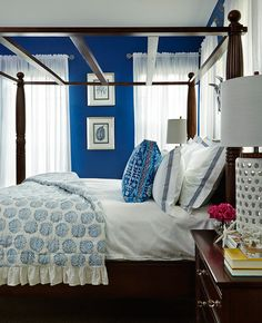 Coastal Blue Bedroom