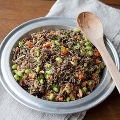 Wild rice and edamame team up in a salad that is completely delicious and healthy to boot.