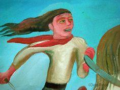 gaucho jinete 1. Pintura en venta de la Serie Gauchos del artista argentino…