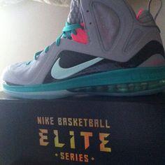 "official photos 65e16 041c3 Nike LeBron 9 Elite ""South Beach"" Lebron 9, Lebron James, Mint Candy"