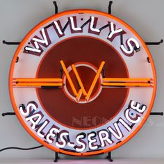 Auto Gear Direct - Willys Sales Service Jeep Neon Sign, $314.99 (http://www.autogeardirect.com/jeep/jeep-clocks/willys-sales-service-jeep-neon-sign/)