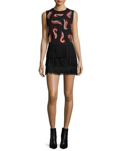 Kara Crop Top & Lavana Suede Skirt by Alice + Olivia at Neiman Marcus.