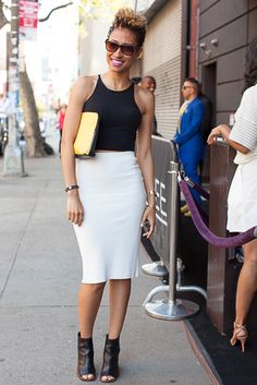 Elaine Welteroth attends Bethanne Hardison's CFDA Award party.