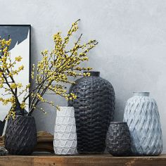 A woven wonder. Inspired by chunky sweater knits and woven textiles, our Ceramic Woven Vases embrace your flowers like a cozy winter sweater. Group a few together or place them next to an eclectic assortment of colorful decor. Furniture Sale, Modern Furniture, Living Furniture, Home Decor Accessories, Decorative Accessories, Home Decor Sale, Bedroom Colors, Bedroom Ideas, Bedroom Decor