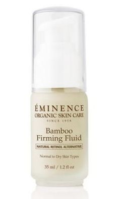 eminence bamboo firming fluid. I'm not usually gushy about skin care products, but this stuff is amazing.