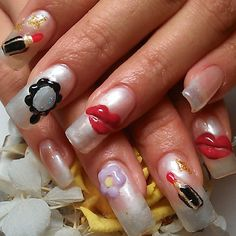 Lip Nail #nail #nails #nailart #mirror #rough #lip #Padgram