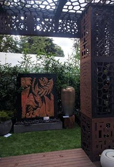QAQ participated at the 2017 Melbourne International Flower and Garden Show this year with sponsorships for Water Features Direct and FMSA Architectur. Garden Stand, Garden Show, Home And Garden, Decorative Screen Panels, Melbourne House, Exhibition Space, Water Features, Backyard, Outdoor Structures