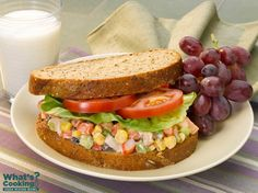 Shrimp Confetti Salad Sandwich #veggies #grains #protein #MyPlate #WhatsCooking