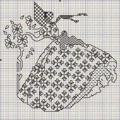 Hobby lavori femminili - ricamo - uncinetto - maglia: schema punto croce donna