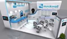 8 x 8 exhibition stand design for Mackwell Electronics at Lux Live 2