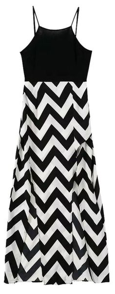 Chevron Maxi Tank Dress ❤︎