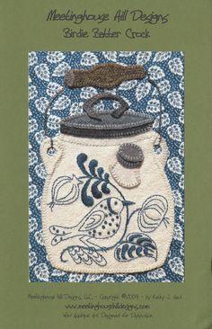 Birdie Batter Crock Wool Applique