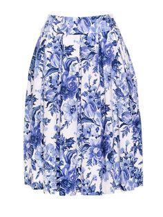 Jellicoe Skirt   China Blue Floral   Skirt Girly Outfits, Skirt Outfits, New Outfits, Dress Skirt, Cute Outfits, Fashion Outfits, Review Fashion, Floral Fashion, Floral Dresses