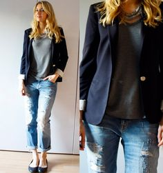 One more navy blue jacket from Zara