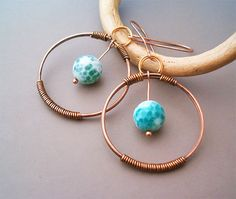 Hey, I found this really awesome Etsy listing at https://www.etsy.com/listing/155587797/wire-wrapped-earrings-copper-and