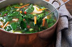 Pork Dumpling and Spinach Soup - Seasons and Suppers